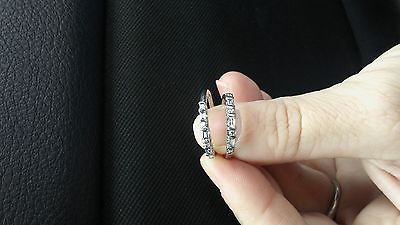 Diamond ring with two matching Diamond bands