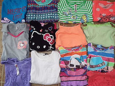 24 pieces Girls size 10/12 mixed items lot Skirts shorts pants tops