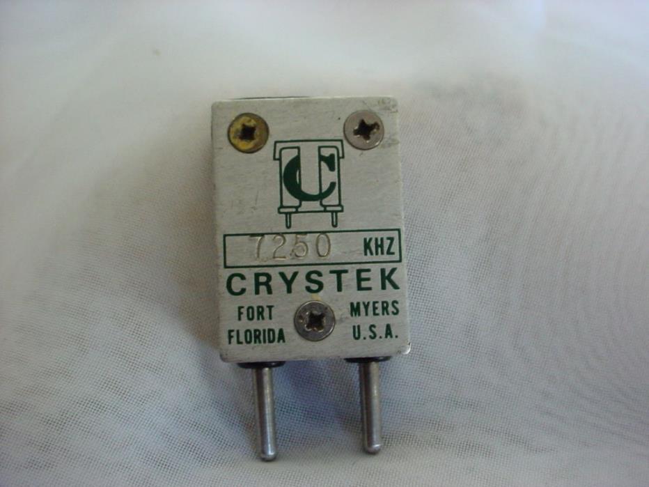 CT Crystek Radio Crystal 7250 KHZ USA made Ham Radio