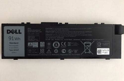 Dell MFKVP replacement Battery 91 Wh - 7510/7710
