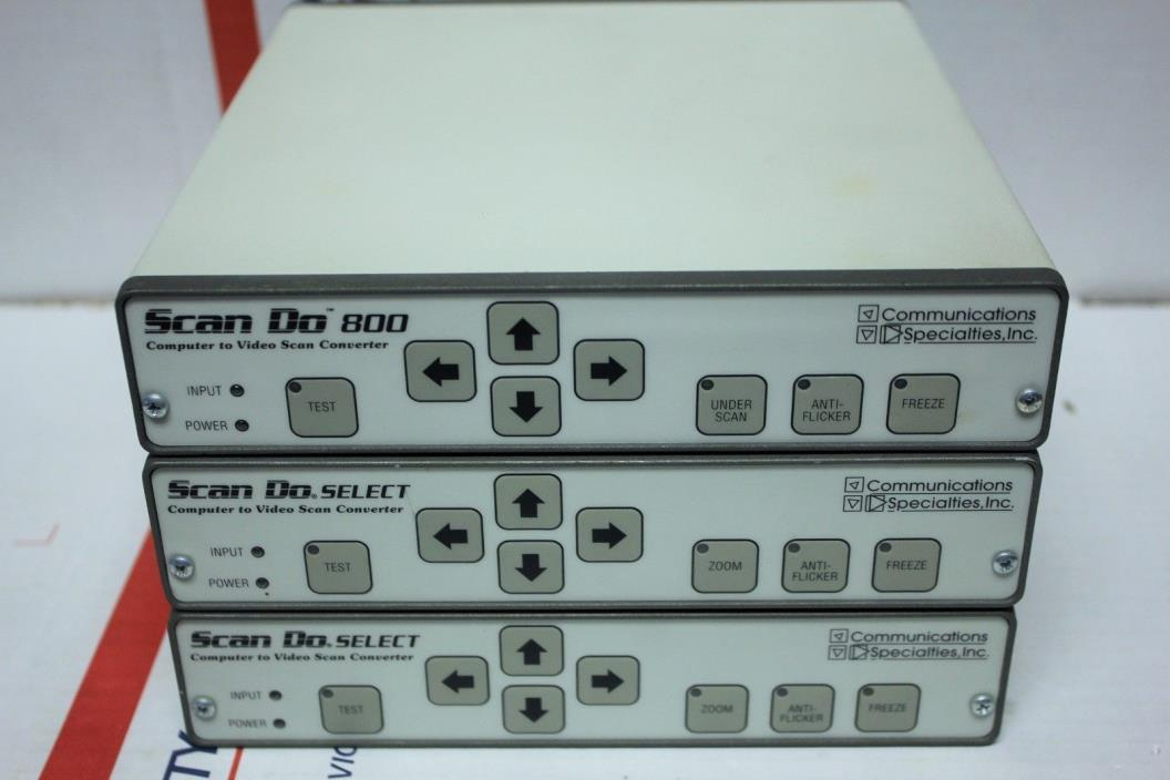 3x~Scan Do~Select~1270~1290~Computer to Video~Converter~800~Communications~Lot
