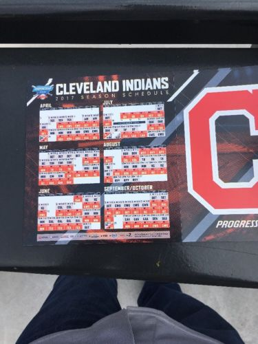 Cleveland Indians Opening Day Magnet Schedule