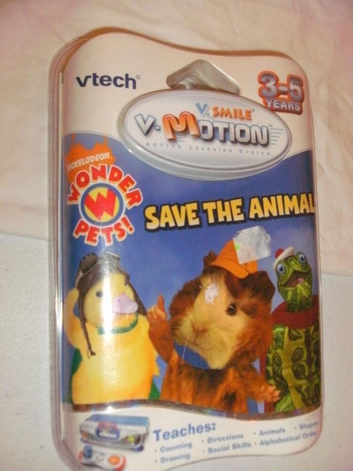 VTECH VSMILE VMOTION NEW WONDER PETS NICKELODEON SAVE THE ANIMALS NEW