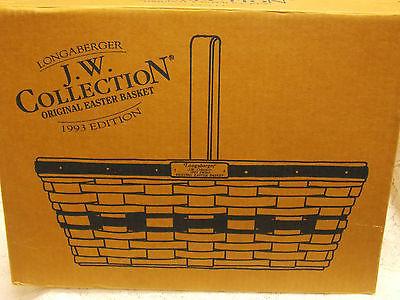 LONGABERGER 1993 ORIGINAL EASTER BASKET JW COLLECTION PLAID LINER ORIGINAL BOX