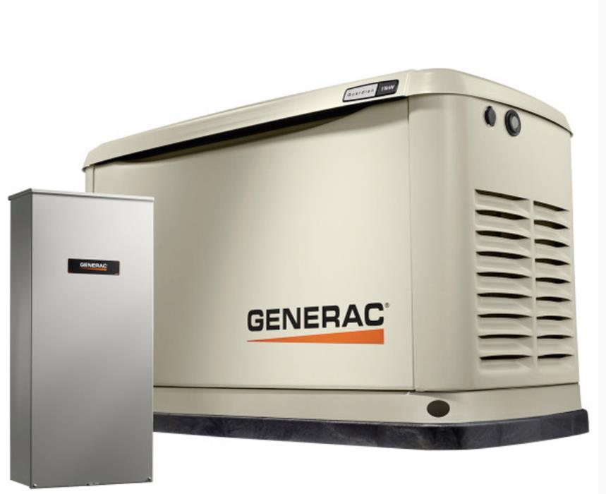 Generac11,000-Watt (LP)/10,000-Watt (NG) Air Cooled Generator Automatic Transfer