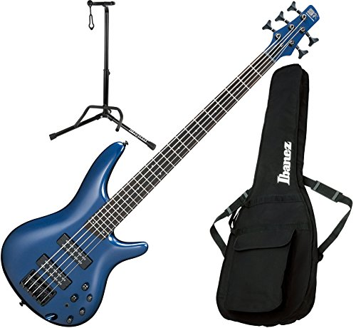 Ibanez SR305EBNM 5 String Navy Metallic Electric Bass Guitar with Gig Bag and