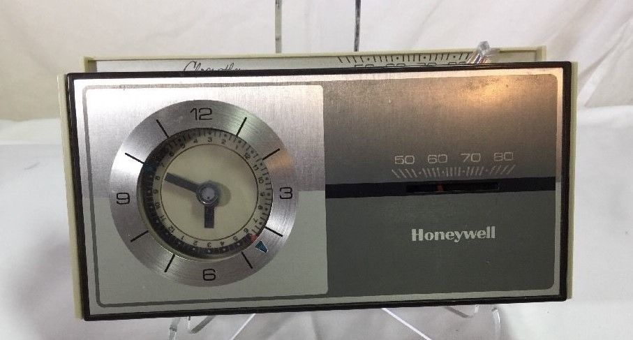 Vtg HONEYWELL CHRONOTHERM HOUSE HOME FURNACE AIR CONDITIONER THERMOSTAT RETRO