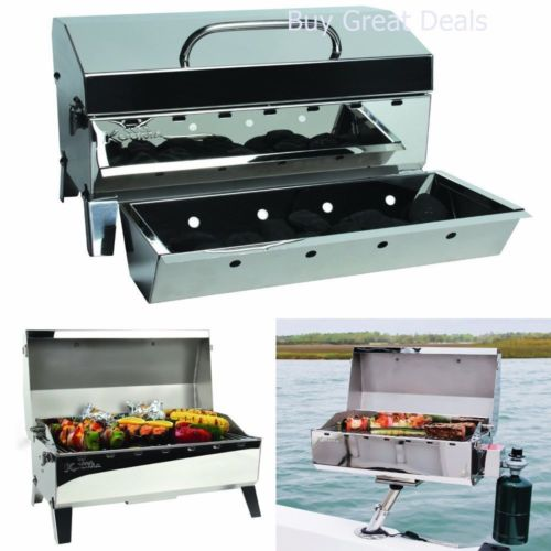 Kuuma 58110 Stow N' Go 160 Charcoal Grill with Inner Lid Liner, Mountable