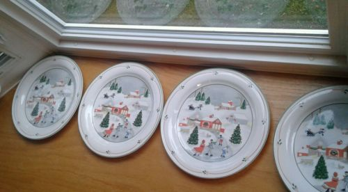Sango Silent Night Dinner Plates 10 3/4