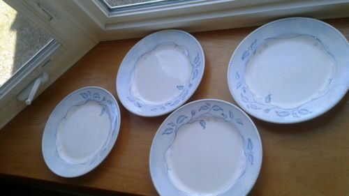 4 Lenox Swedish Lodge Collection Swedish Rose Dinner Plates 11 1/4