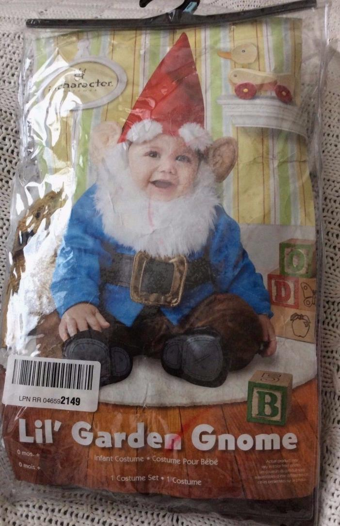 InCharacter Baby Lil' Garden Gnome Costume Red/Blue Sz Small (6-12 mo) New