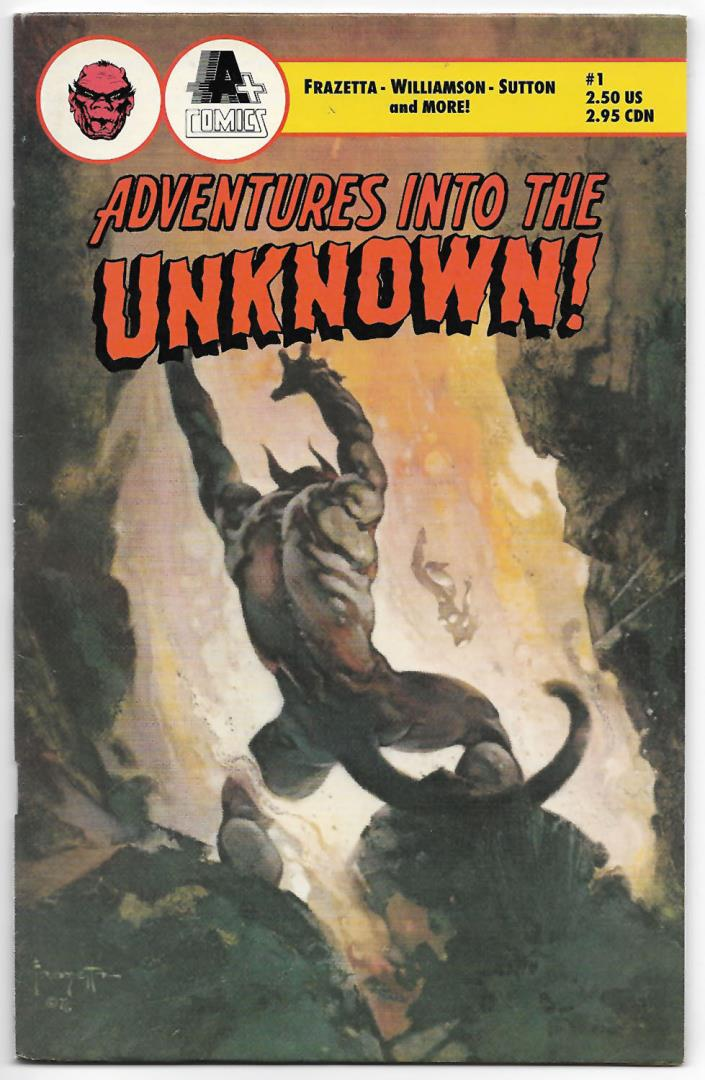 Adventures Into The Unknown #1 (1990 A+ Comics) Frank Frazetta Cover Art 1 Story