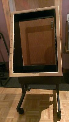 Rolling Rack Mount Cabinet for Recording Studio or Computers
