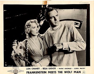 Frankenstein Meets the Wolfman Lon Chaney Jr. Bela Lugolsi RARE UK LC #1 1943