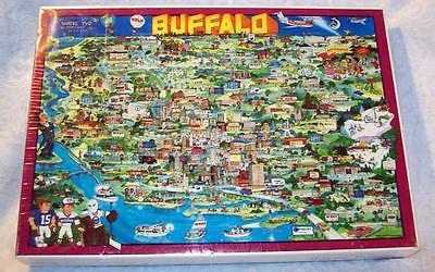 Buffalo NY City Puzzle TUCO 1985 Don Scott Jigsaw Unopened Vintage WBUF Bisons