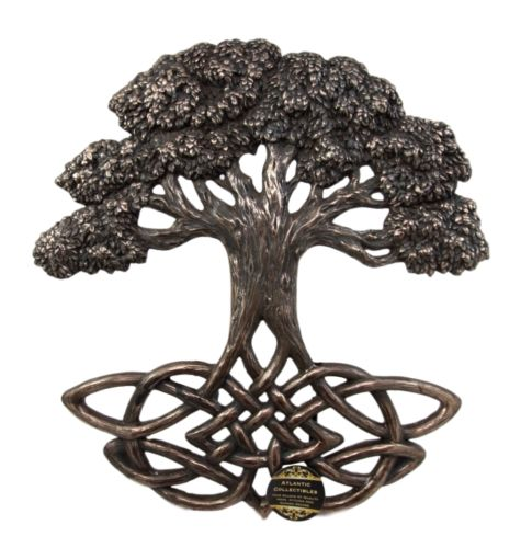 Celtic Tree of Life With Symbollic Root Knotwork Figurine Wall Plaque 13
