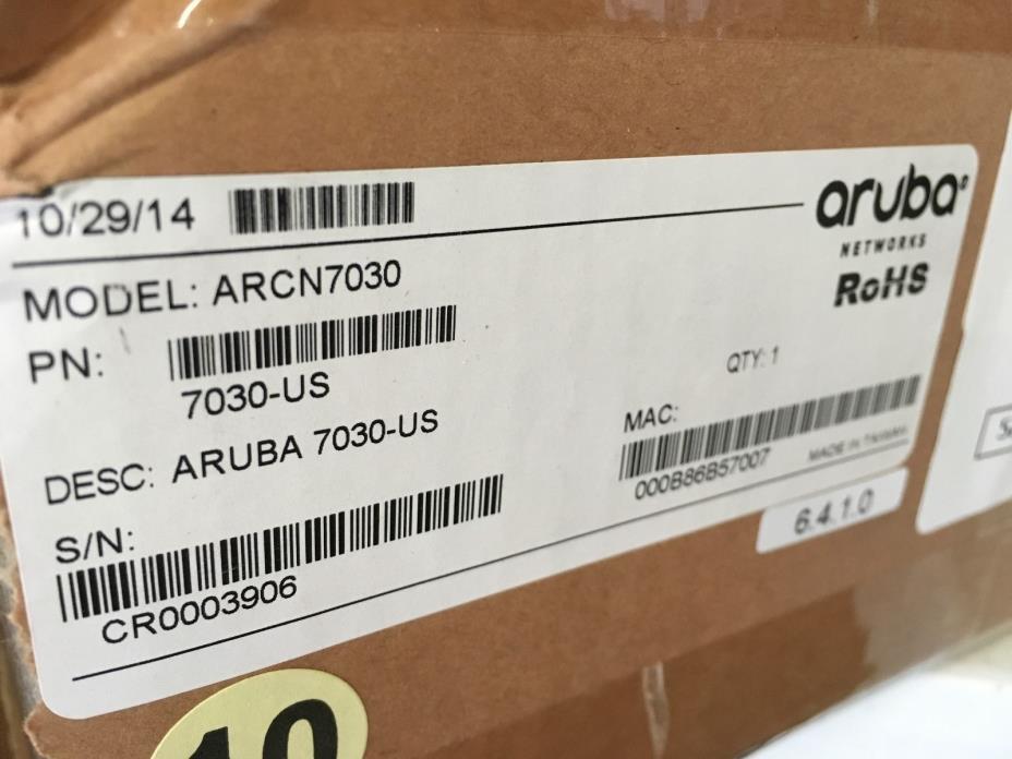 HP Aruba Networks 7030 Wireless LAN Controller JW687A 7030-US NEW SEALED!