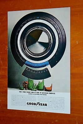 1962 GOODYEAR AUTOMOTIVE TIRE AD + INTERNATIONAL TRUCKS COE AD ON THE BACK - 60S