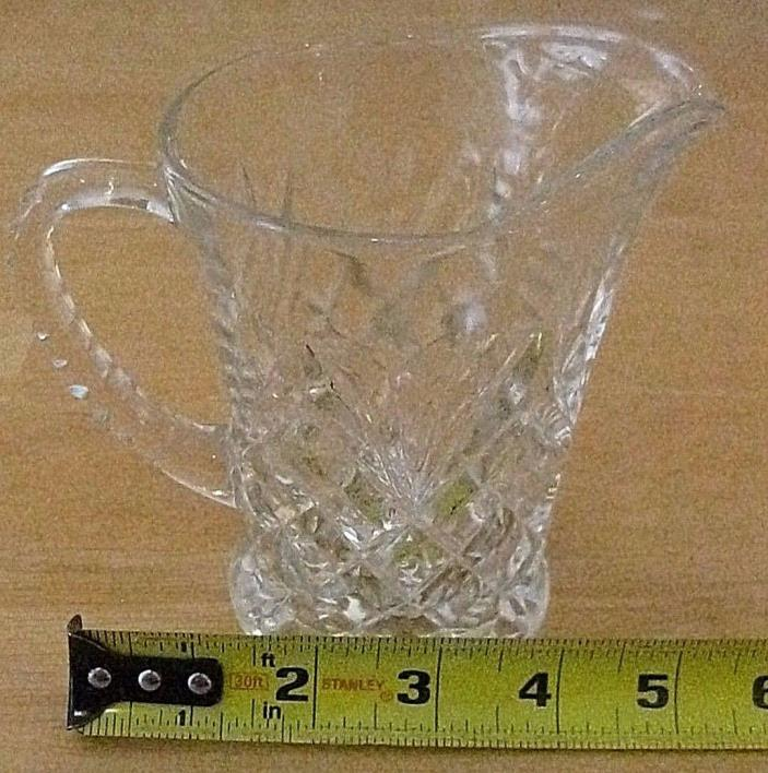 vintage glass juice pitcher