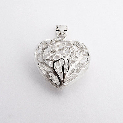 Heart Pendant Open Work Sterling Silver