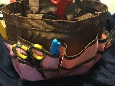 Scrapbook Tote Organizer Storage Basket Carrier Craft Memories Supplies sewing