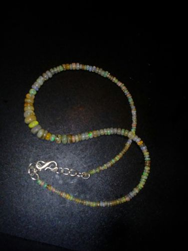46 ctw Opal Gemstone Necklace 2 to7mm 15