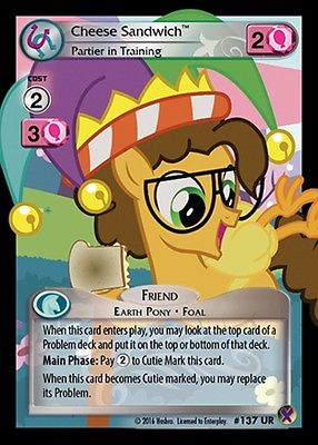 Cheese Sandwich, Partier in Training #137 UR Marks in Time MLP CCG TCG