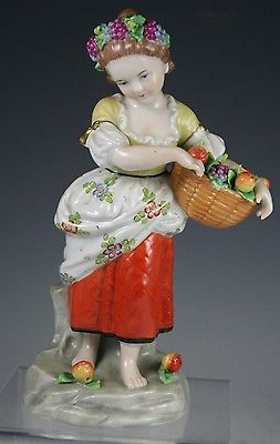 Sitzendorf Germany Porcelain Dresden Lace Figurine