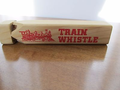 Vintage Train Whistle Wood Flat Americana CT Valley Line 7