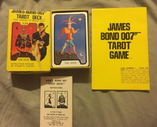 Vintage Playing Cards James Bond Tarot Deck Fergus Hall 1973 Complete NM