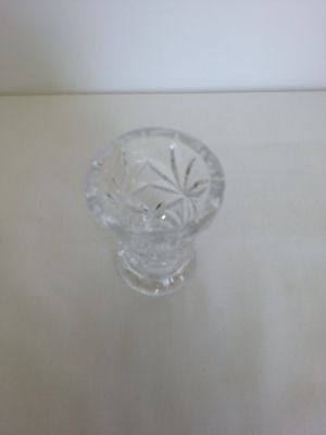 Round clear glass toothpick holder