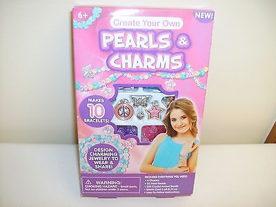 PEARLS & CHARMS BRACELET KIT MAKES 10