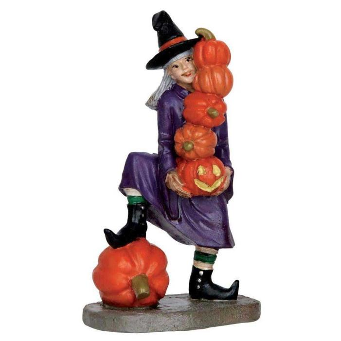 Lemax Spooky Town Delicate Balance Witch & Pumpkins Figurine NRFP