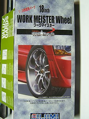Fujimi 1/24  18 inch Work Meister Wheel & Tire Set