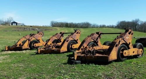 (3) Heavy Duty, Self Loading, Hydraulic High Line  Reel Trailers, Reel Trailer