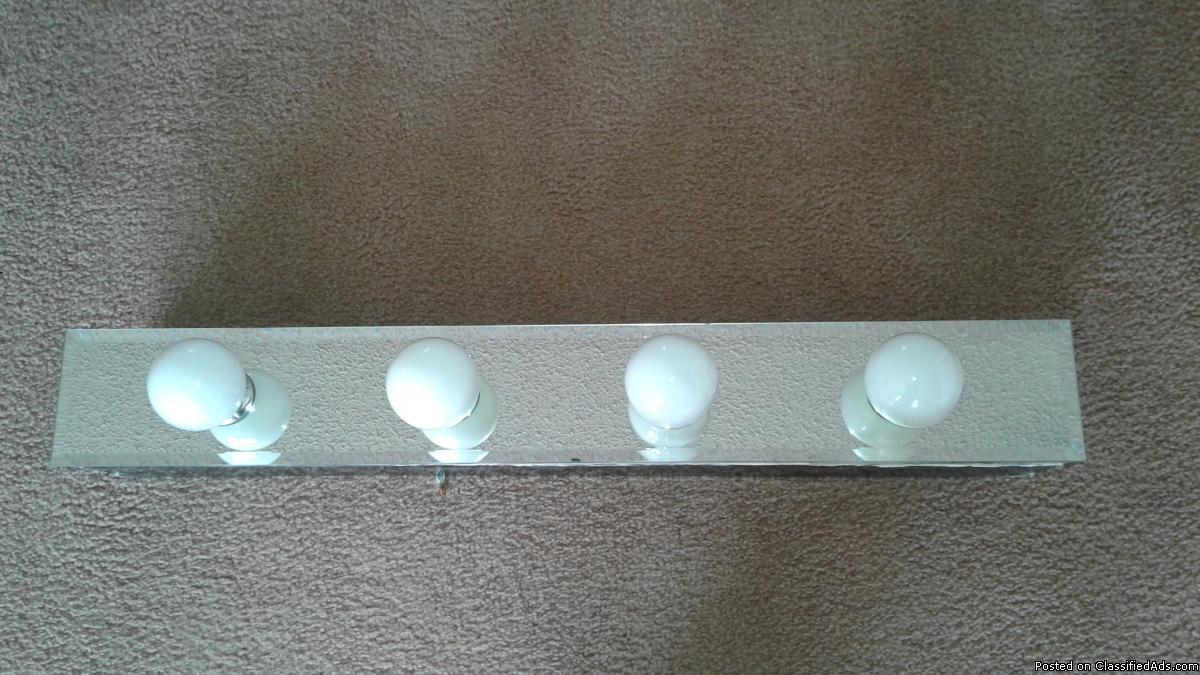 4 LIGHT MIRROR BATHROOM VANITY BAR LIGHTING FIXTURE