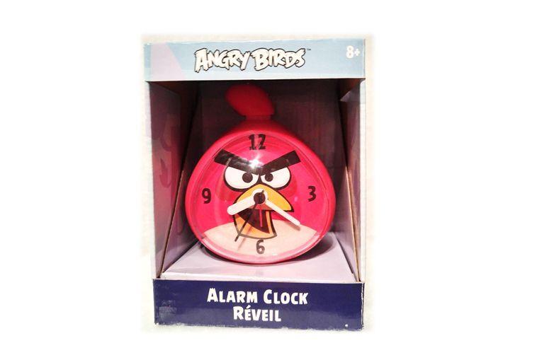 JAZZITEE KID'S RED ANGRY BIRDS ALARM CLOCK