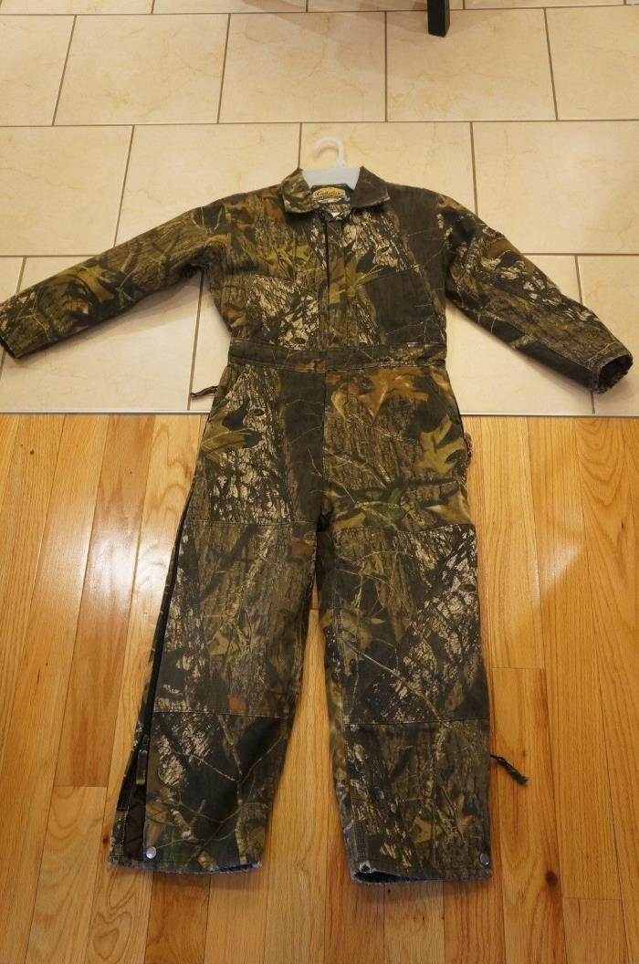 Cabela's Real Tree Youth Camo Insulated Coveralls. Size 12 Boys Girls Realtree