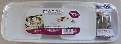 Mozaik Plastic Appetizer Service Set for 8