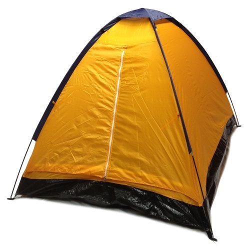 Orange Dome Camping Tent 7x5' - 2 Person, Two Man Blue Orange Sealed Bottom NEW