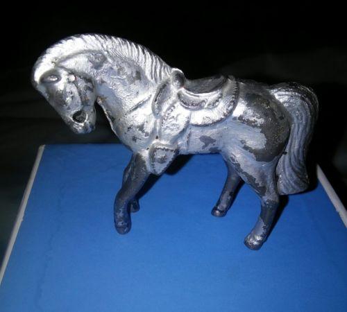 Antique Pewter horse figurine from Napolean set