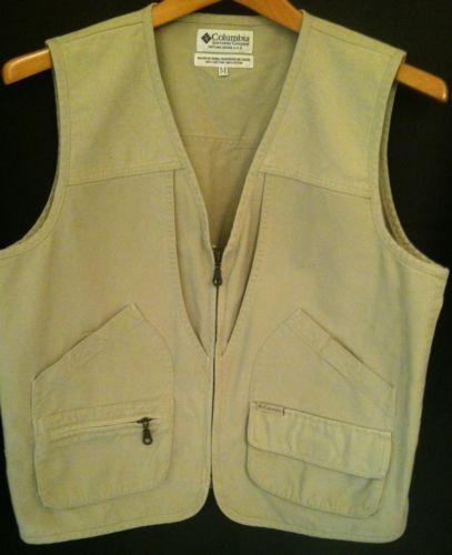 Columbia Sportswear Men's Outdoor Tan Photography Hiking Vest, Medium