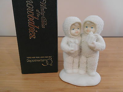 20) Dept 56 Winter Tales of the Snowbabies - One For You, One For Me - MIB