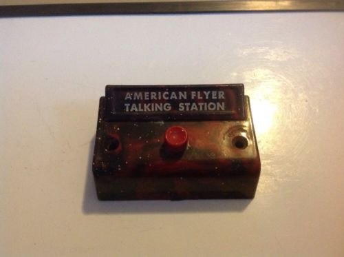 American Flyer Marbled Talking Station #755 Control Button