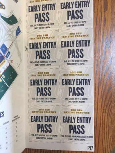 2017 Milwaukee Brewers Early Entry Batting Practice Passes Chicago Cubs Miller