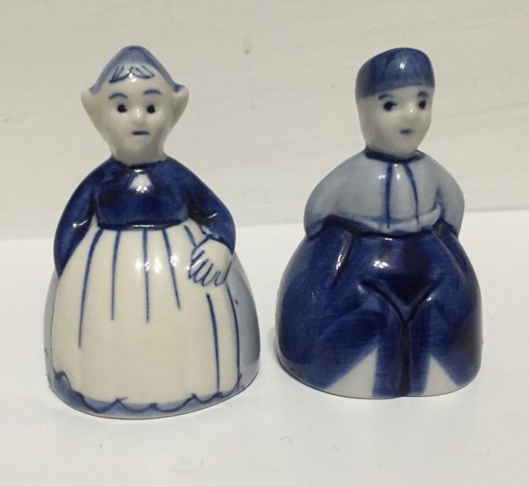 Delft Blue Handpainted Dutch Salt & Pepper Shaker Made in Holland