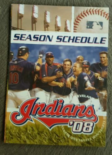2008 CLEVELAND INDIANS BASEBALL POCKET SCHEDULE