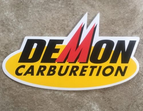 DEMON CARBURETION Decal Drag car racing, stockcar, Dirt Track, Hot Rod,Toolbox