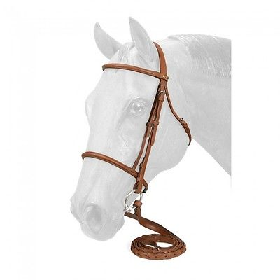 Silver Fox Light Chestnut Leather Pony Size Raised Snaffle Bridle 20-8558