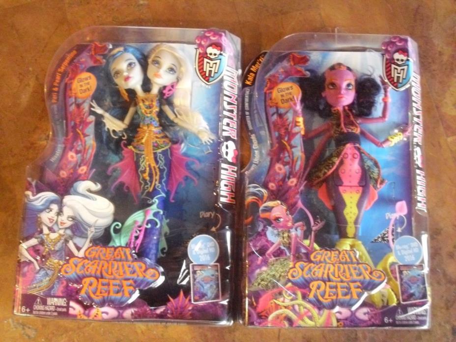Monster High Great Scarrier reef Peri & Pearl Serpentine & Kala Mer'ri Dolls
